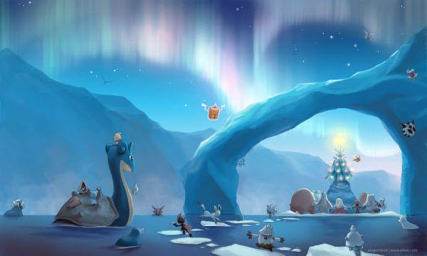 Beautiful Christmas Desktop Wallpapers Vol 2 Hongkiat Christmas Pokemon Pokemon Christmas Desktop Wallpaper
