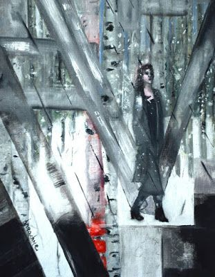 """Where ART Lives Gallery Artists Group Blog: Abstract Painting,Figurative Art """"Alone Again"""" by ..."""