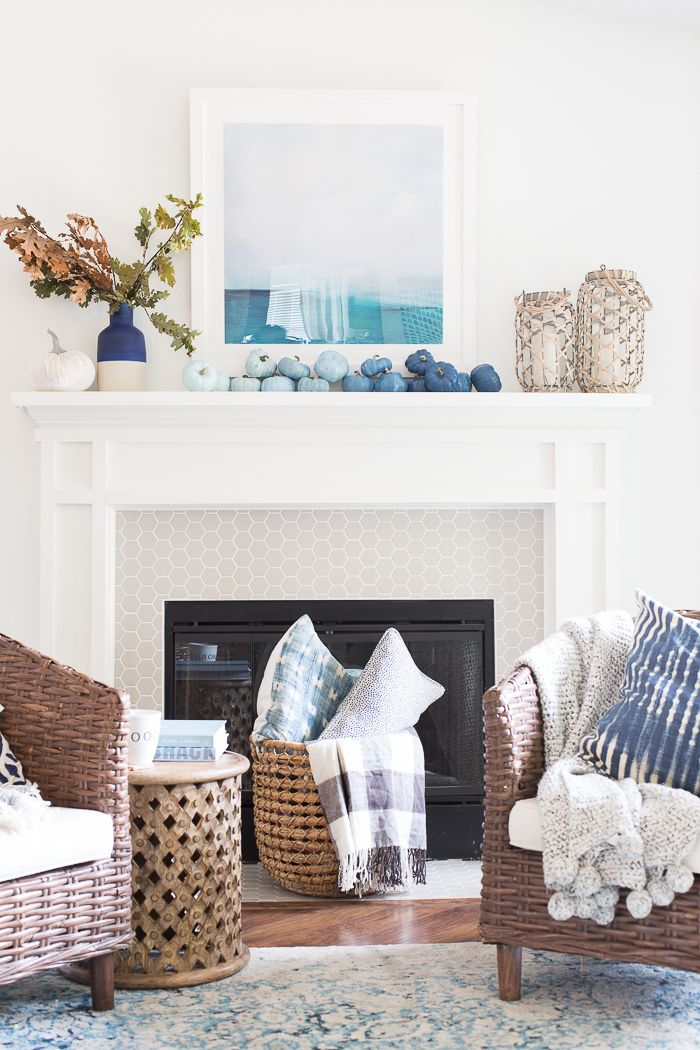 Coastal Fall Mantel Decor Decorating A Coastal Inspired Home For