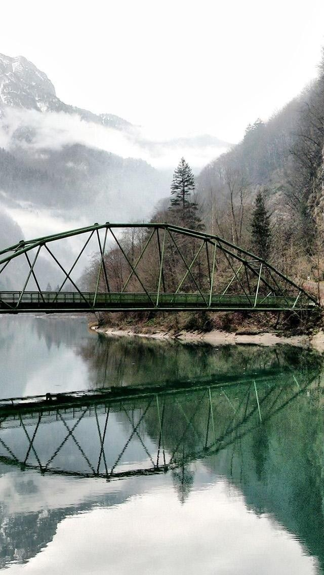 Bridge Reflection Iphone Wallpaper Tap To See More Nature