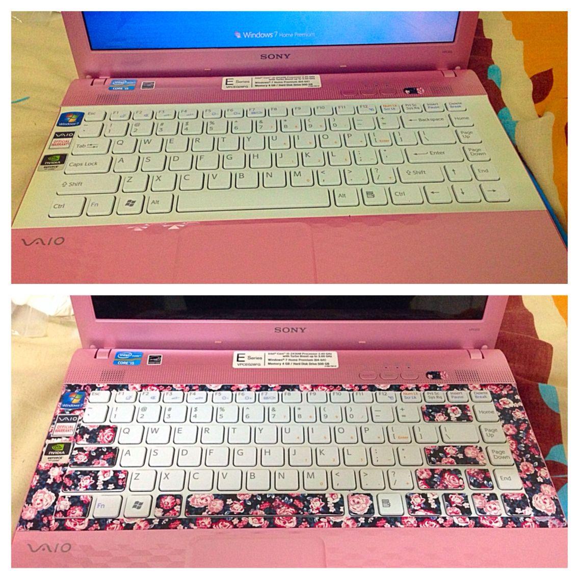 Washi tapes and re designing laptop keyboard keys craft for Decoration keyboard