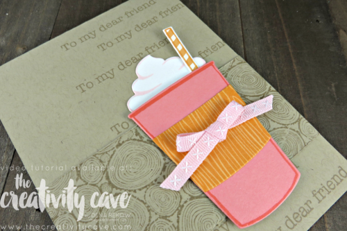 Check out the fun video tutorial for this card including some great tips and tricks using Stampin Up's Coffee Cafe on my blog at www.thecreativitycave.com #stampinup #thecreativitycave #coffeecafe