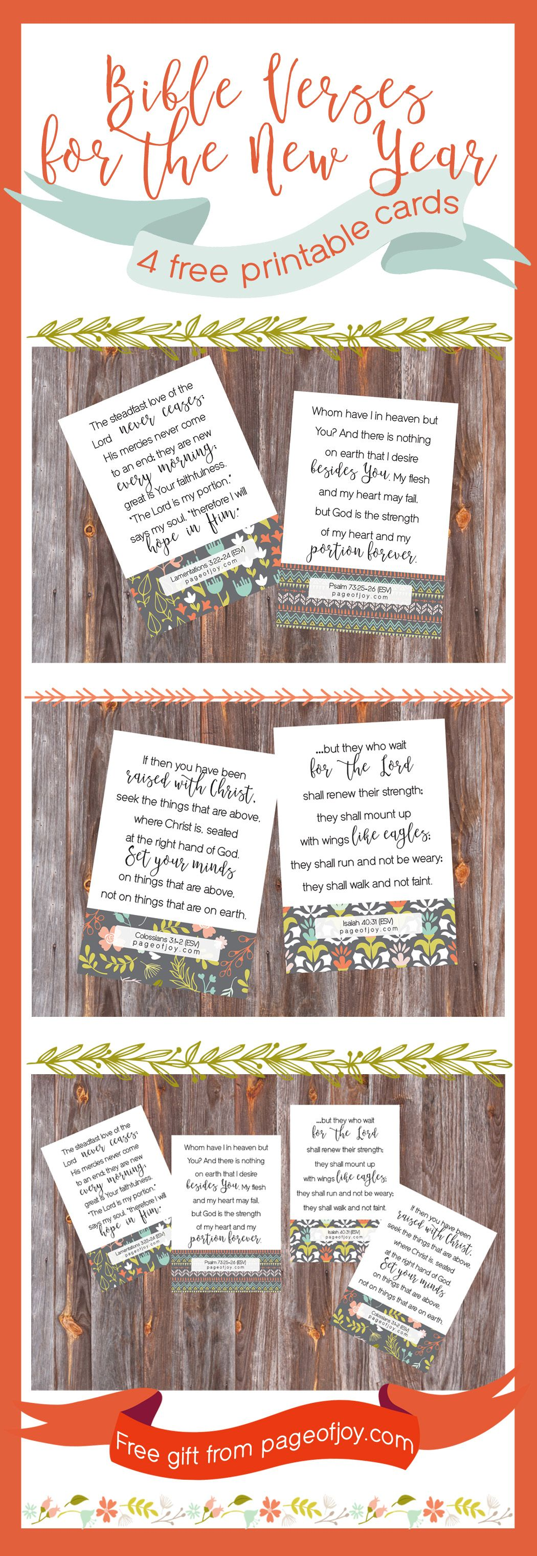 Gorgeous Free Bible Verse Printable Cards Will Inspire Your New
