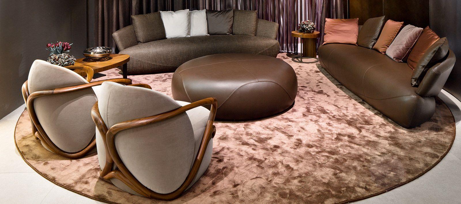 Hug Round sofa, Italian chair, Round sofa chair