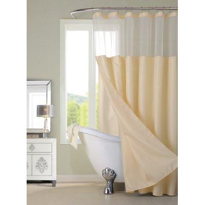 Bernadette Linen Solid Color Single Shower Curtain With Images
