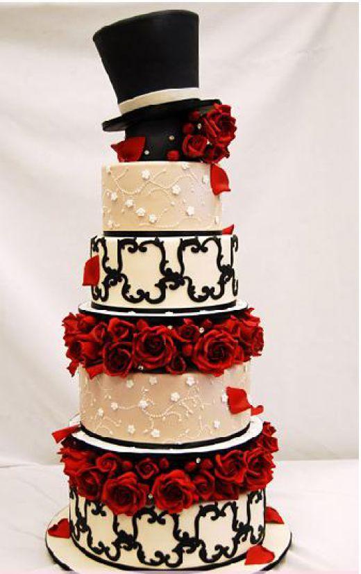 An Alice In Wonderland Themed Wedding Wonderland Wedding Cake