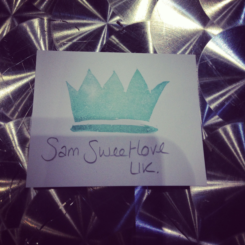 Crown carved by Sam Sweelove