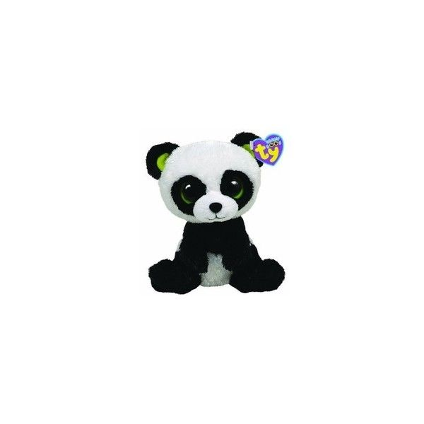"""Amazon.com: Ty Beanie Boos - Safari the Giraffe 6"""": Toys & Games ❤ liked on Polyvore featuring kids and stuffed animals"""