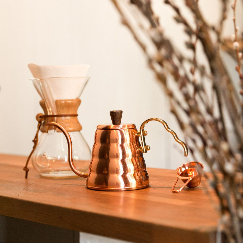 Hario copper pourover kettle pour over kettle coffee