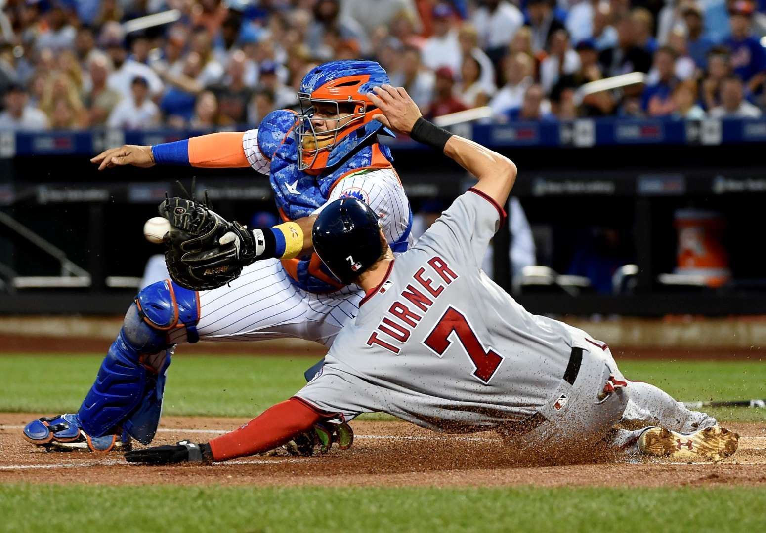 Scoring Time Nationals Trea Turner Scores At Home Plate During A Game Against The Mets On Sept 2 In New York Major League Baseball Washington Nationals Mets