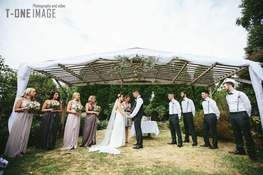 Wedding Ceremony In The Sunken Garden Location: Morning