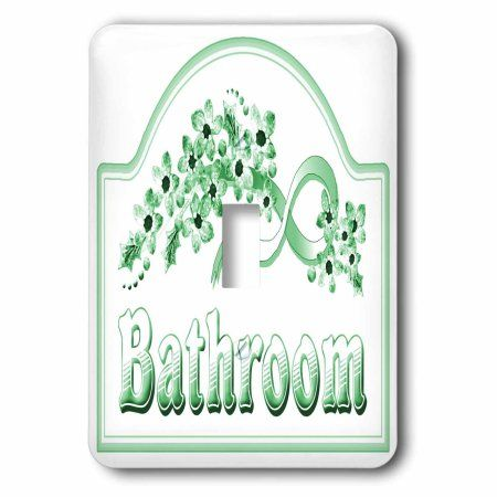 Bathroom Signs Walmart 3drose victorian green bathroom sign, double toggle switch | d