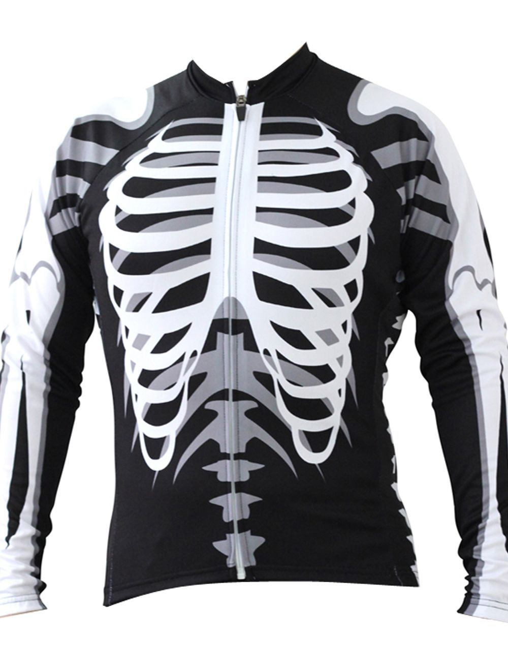 Skeleton Alien SportsWear Mens Long Sleeve Cycling Jersey Cycling Clothing  Bike Shirt Size 2XS To 6XL-in Cycling Jerseys from Sports   Entertainment  on ... aab63e715