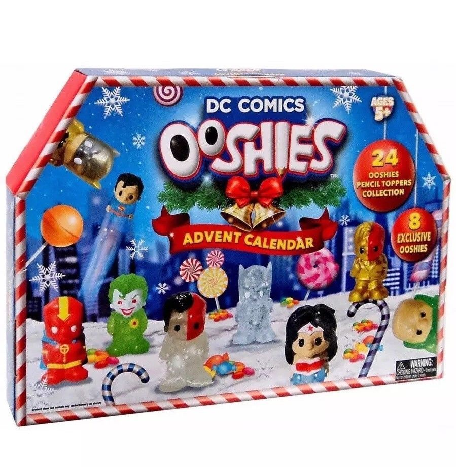 Dc Comics Ooshies Advent Calendar 24 Pencil Toppers Collection New