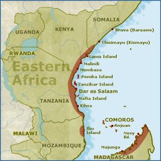 Map East Coast Africa African Trade Routes: The Swahili | Swahili, Africa map, Africa
