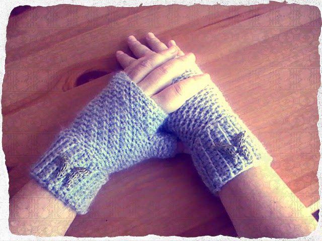 Mitones o guantes sin dedos a crochet   Margarita Knitting   Tejido ...