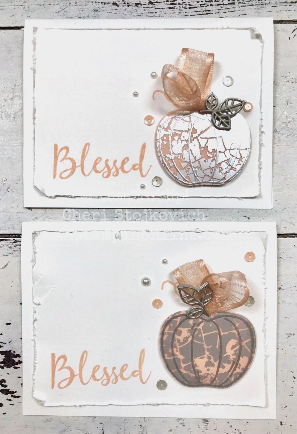 Mercury Glass Pumpkin Harvest Hellos Apple Builder Punch Stampin' Up! Holiday Catalog 2019