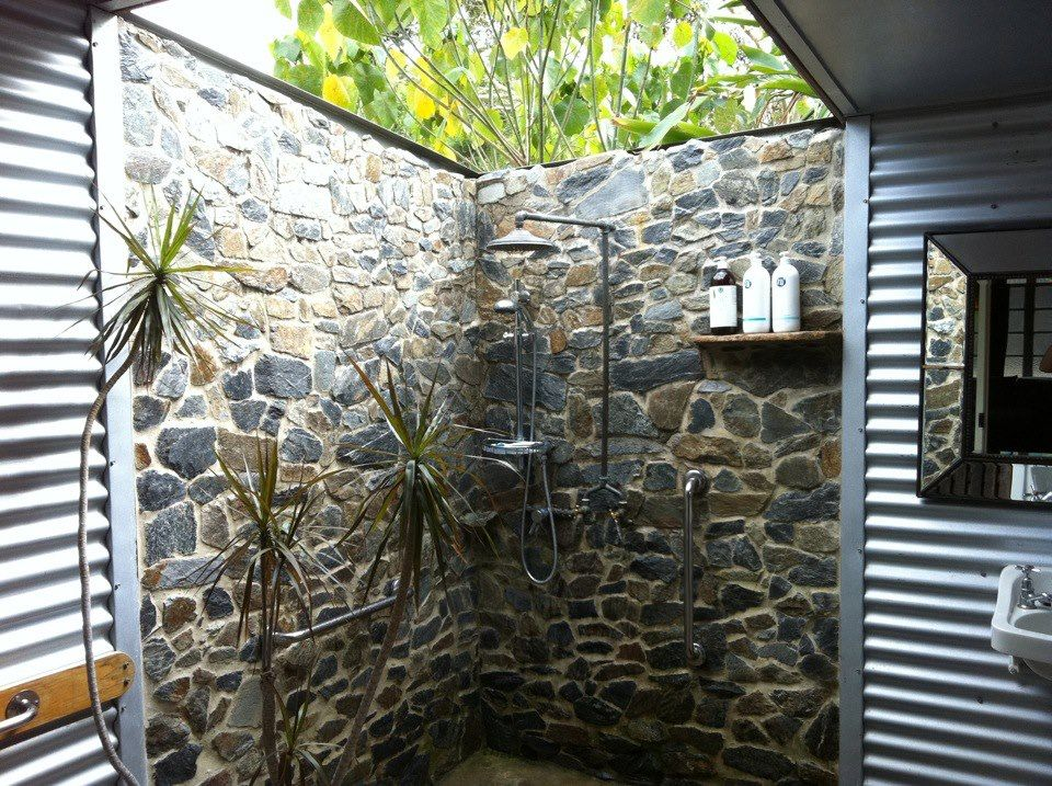 Semi Outdoor Bathroom House Inspiration Pinterest