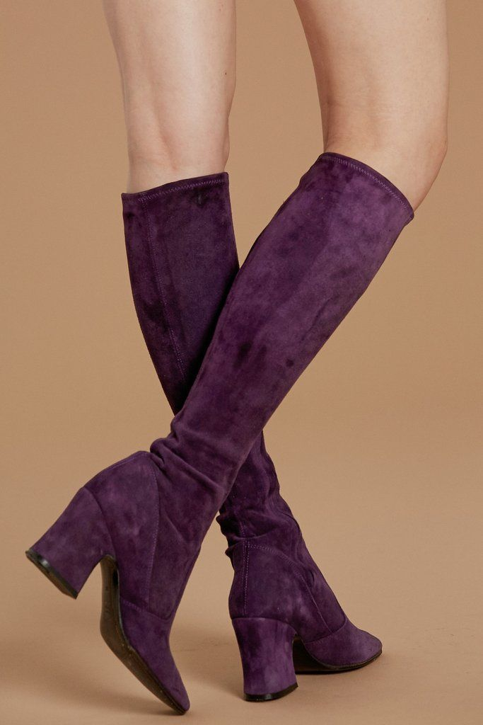 a4c68a01be2b Purple Haze 60's Biba Boots Purple Boots, Purple Suede, Purple Haze, Biba  Fashion