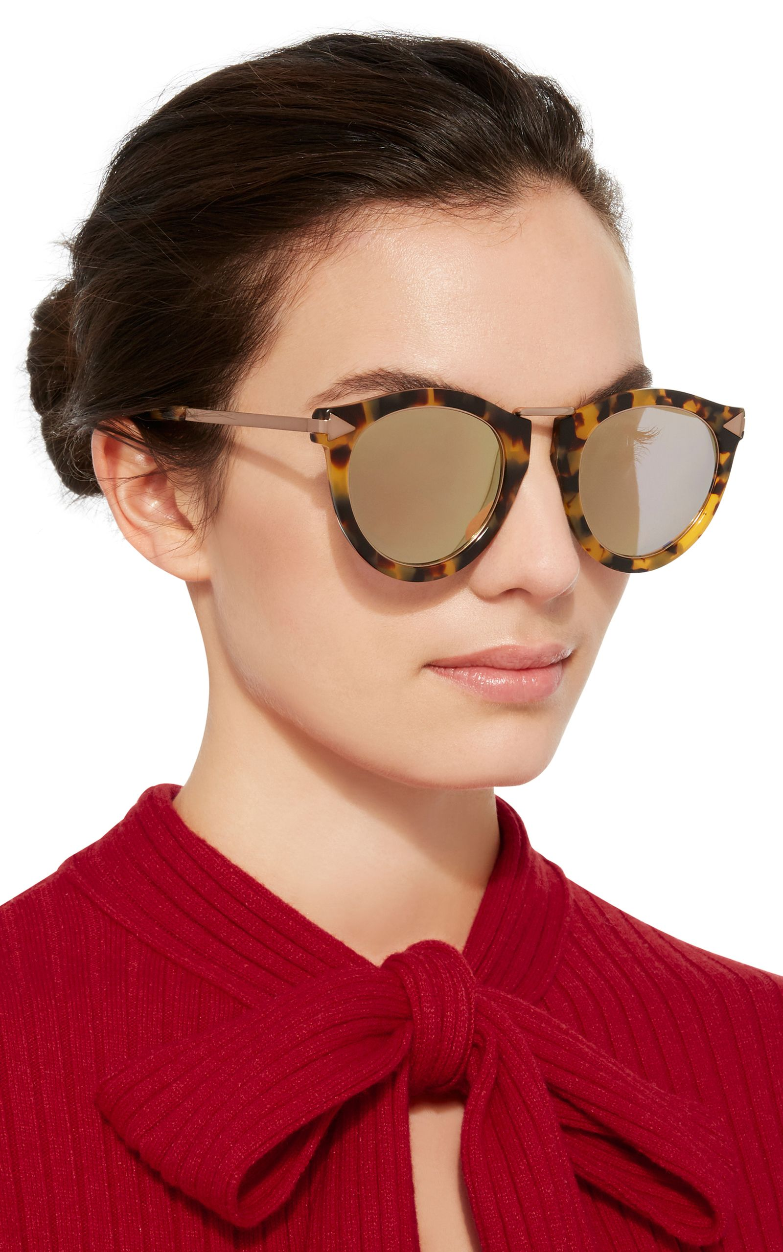 7123d7e8cd414 Harvest Rose Gold-Tone Metal and Tortoiseshell Acetate Sunglasses by KAREN  WALKER Now Available on Moda Operandi