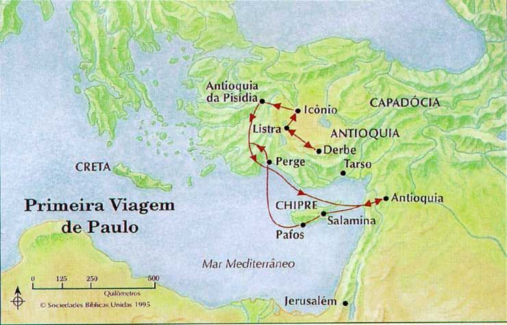 A Primeira Viagem Missionaria De Paulo Com Imagens Livro De