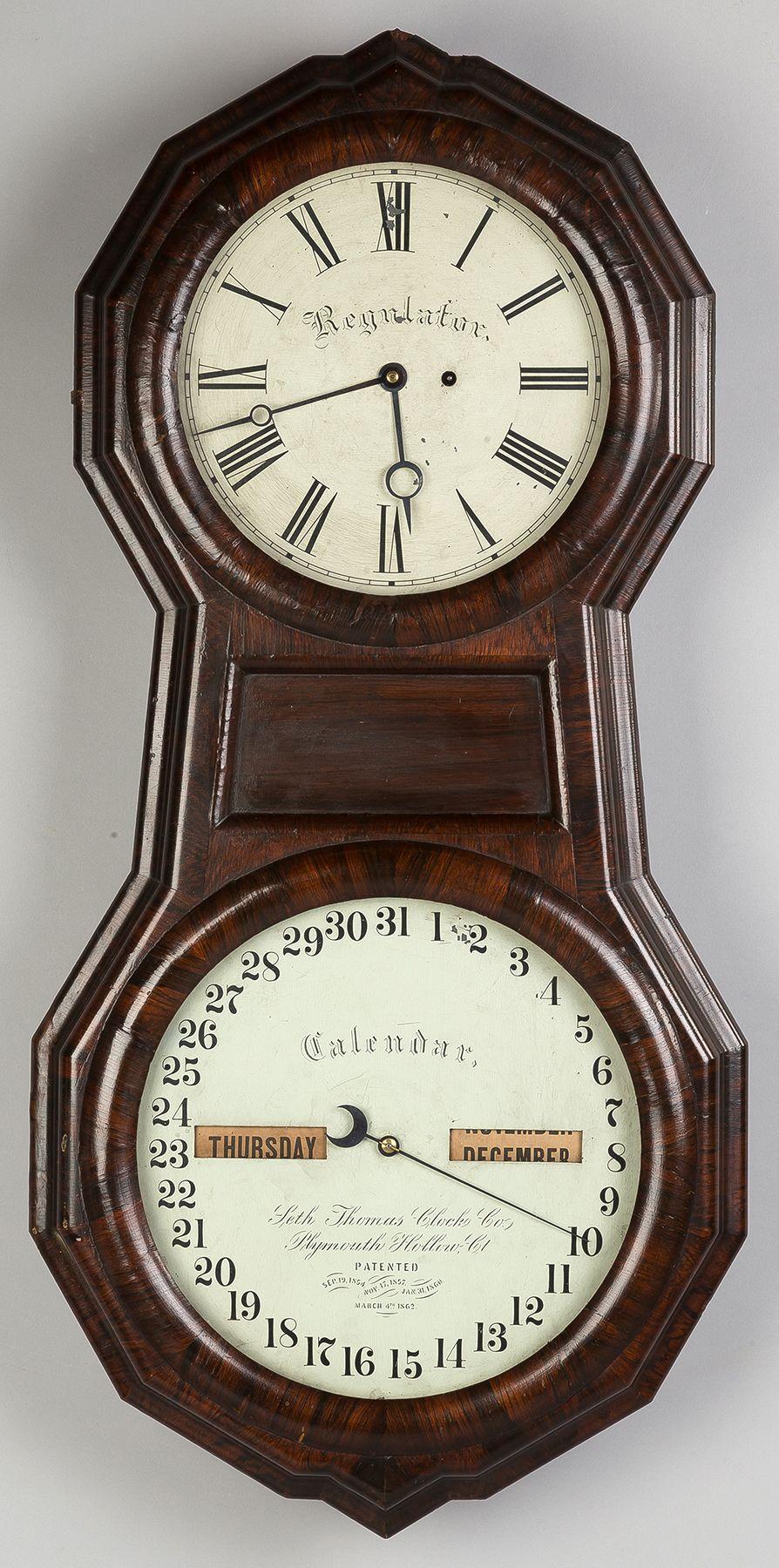 office wall clocks. Seth Thomas Office Calendar Clock | Cottone Auctions Wall Clocks L