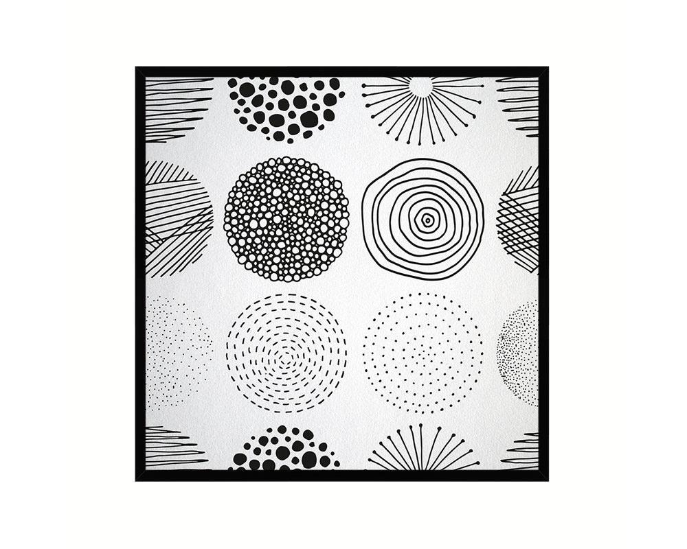Photo of Shape Abstract Artwork Wood Frame Gifts Modern Wall Decor Art Prints – 12 x 12