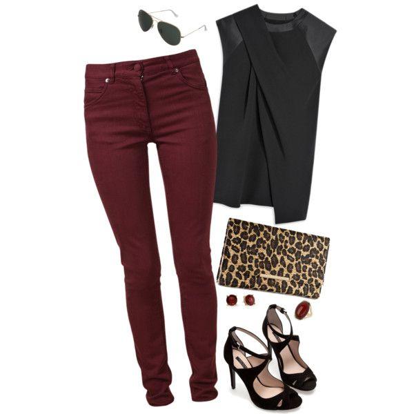 black burgundy leopard
