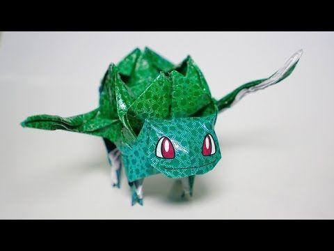 Origami Pokemon Bulbasaur Tutorial Henry Phm Youtube