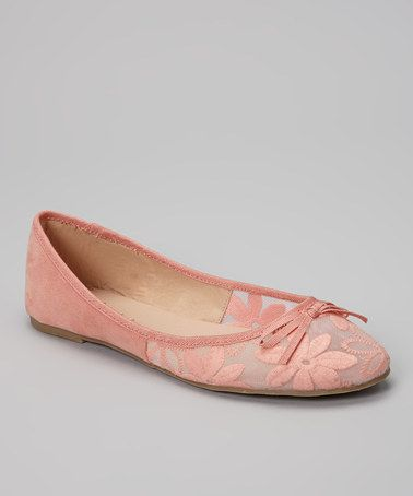 Another great find on #zulily! Pink Embroidered Toni Ballet Flat #zulilyfinds