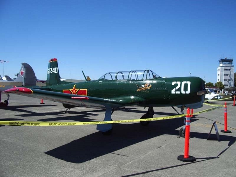 The Nanchang CJ-6 is an aircraft designed and built in China for use by the People's Liberation Army Air Force (PLAAF) as a basic trainer