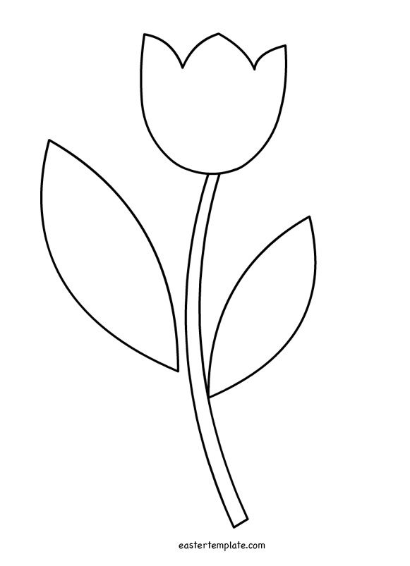 Tulip Leaf Outline Flower Templates Printable Free Flower Templates Printable Printable Flower Coloring Pages