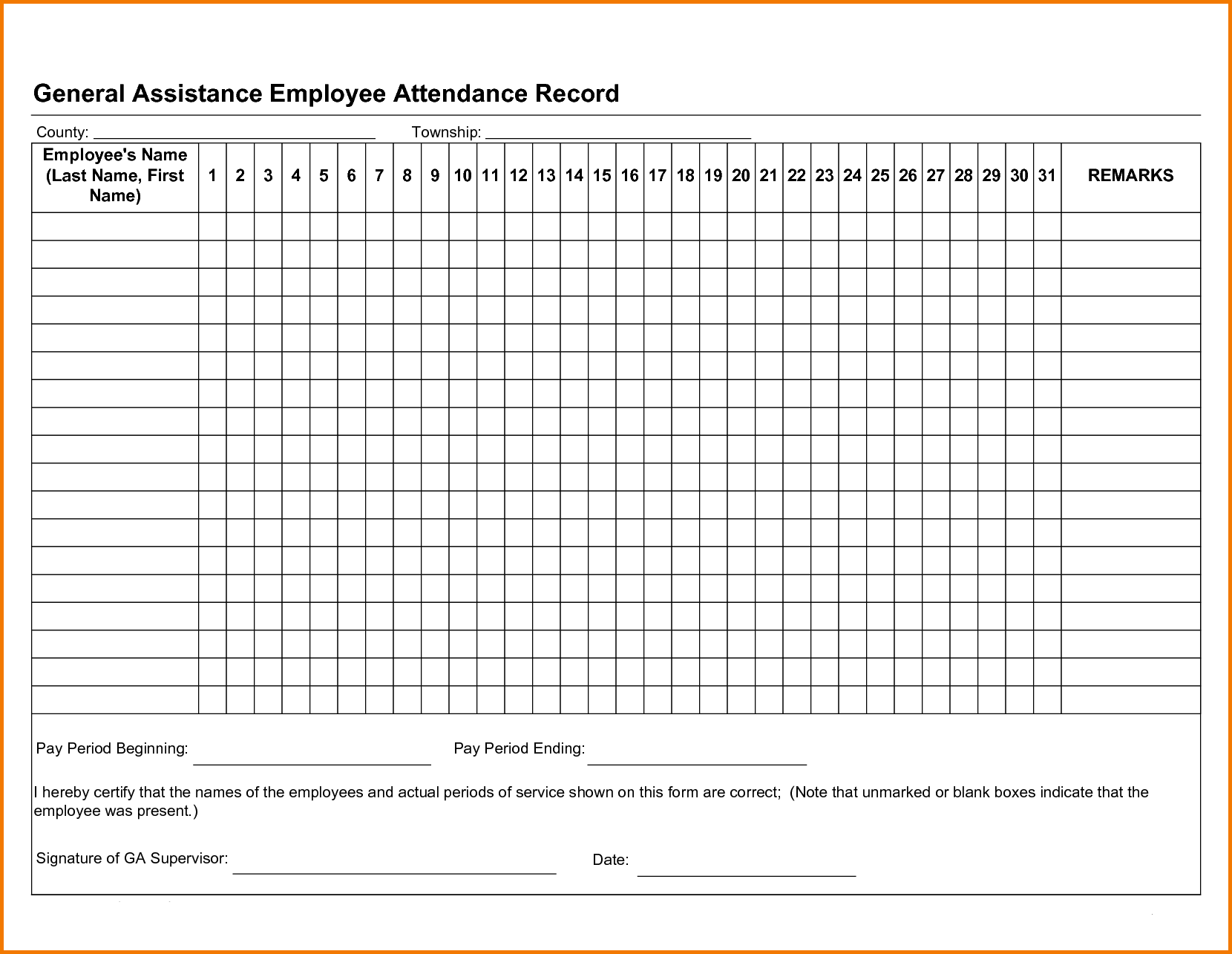 picture relating to Free Printable Employee Attendance Tracker identify Free of charge Personnel Attendance Tracker Excel 2019 Hard work