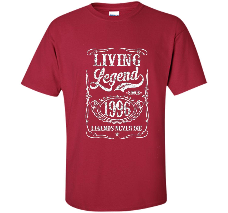 Living Legend Since 1996 T Shirt - Legends Never Die TShirt