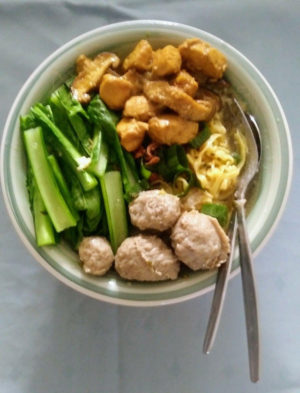 Mie Ayam Jamur Bakso Resep Bumbu Ayam By Cookingwithsheila Jamur Bakso