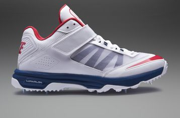 outlet store 9cd54 630a9 Nike Lunar Accelerate Cricket Shoes - Mens Cricket Shoes - White-Blue-Red