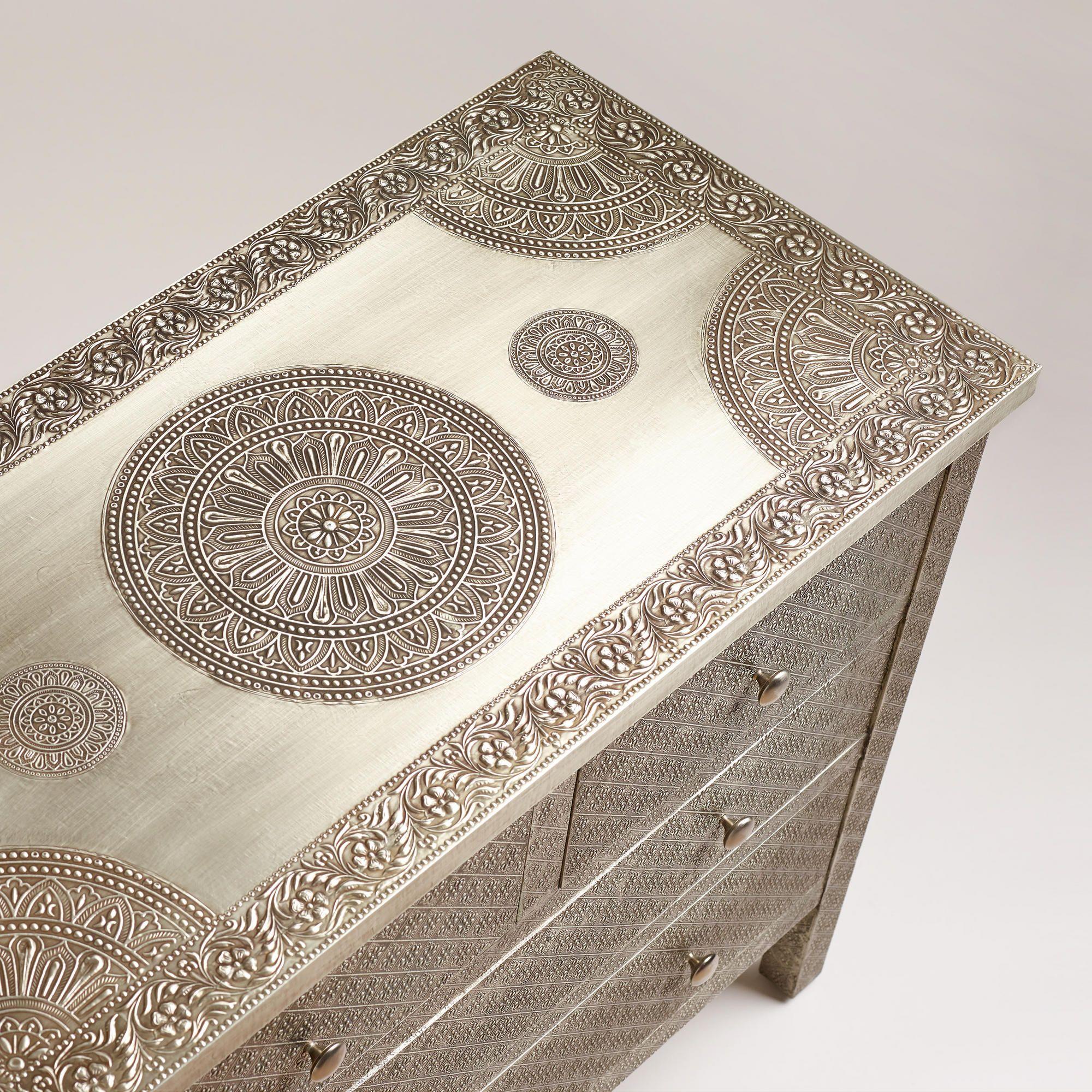 Kiran Embossed Metal Dresser