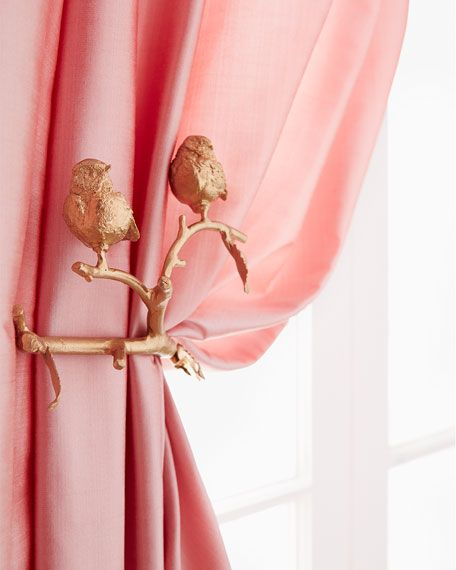 Janice Minor Feathered Friends Curtain Holdback Set Of Two With