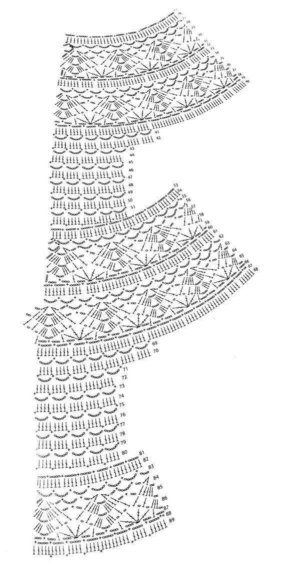 Patrón falda ganchillo blanca | Ganchillo de Marian … | Pinteres…