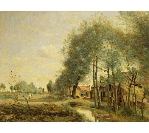 "Photo of East Urban Home Gerahmtes Poster ""The Sin-Le-Noble Road Near Douai, 1873″ von Jean Baptiste Camille Corot,Kunstdruck | Wayfair.de"