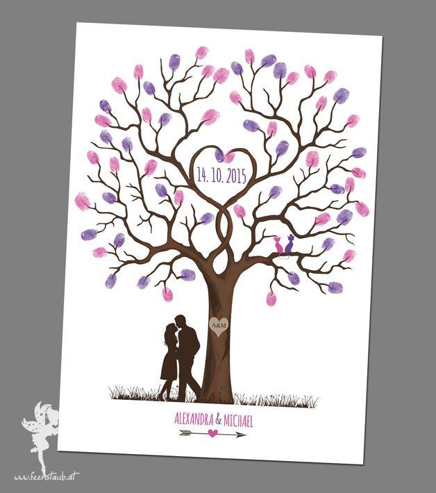 Ihr Wunscht Euch Ein Etwas Anderes Gastebuch Fur Euer Fest Bei Den Weddingtrees Gestalten Erst Eure G Leinwand Hochzeit Baum Hochzeit Fingerabdruck Hochzeit