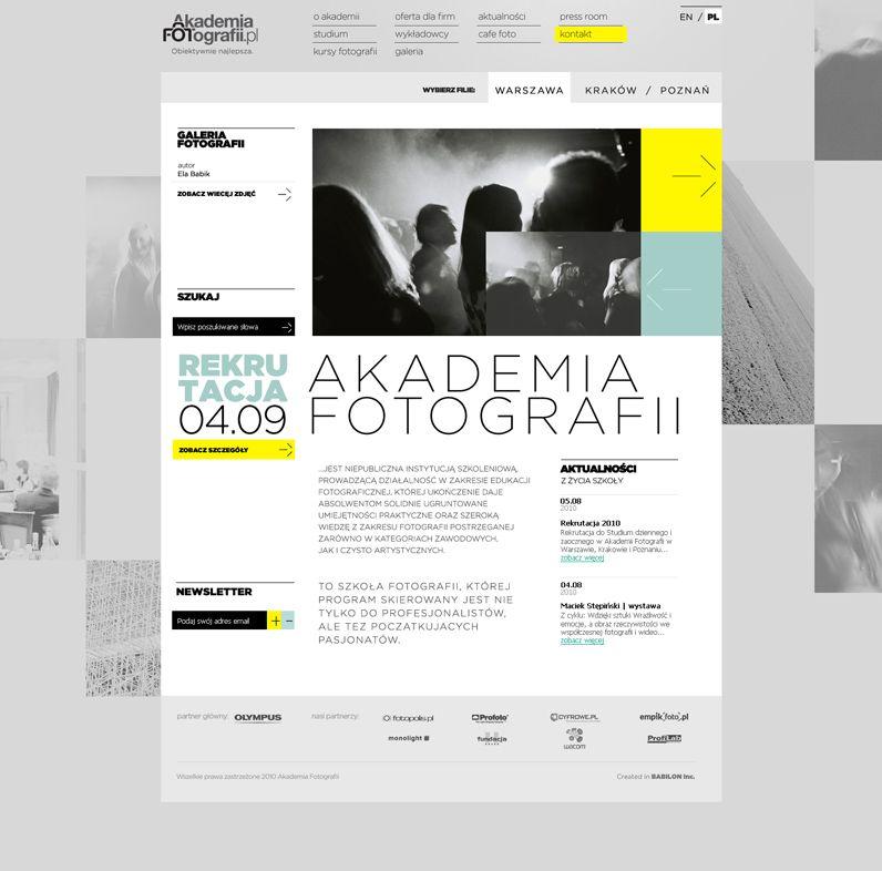 http://estratura.com/index.php?/www/akademia-fotografii/ | Design ...