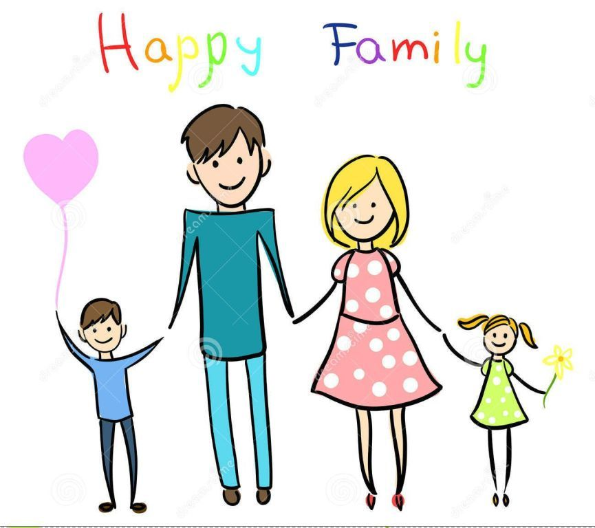 Happy Cartoon Family Clipart Share On Facebook Happy Family Pictures Family Cartoon Family Drawing