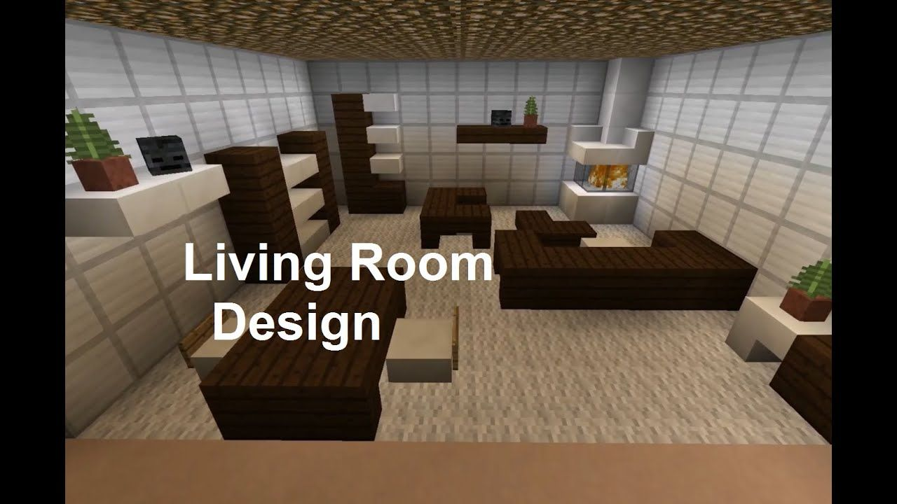 30 Amazing Concept Living Room Designs In Minecraft In 2020 Living Room In Minecraft Best Living Room Design Minecraft Interior Design