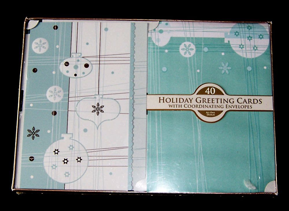 40 Paper Magic Holiday Greeting Cards Coordinating Envelopes All One Design #PaperMagic #Christmas