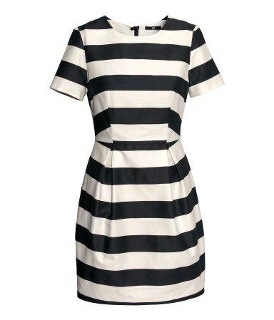 Black and White Satin Dress