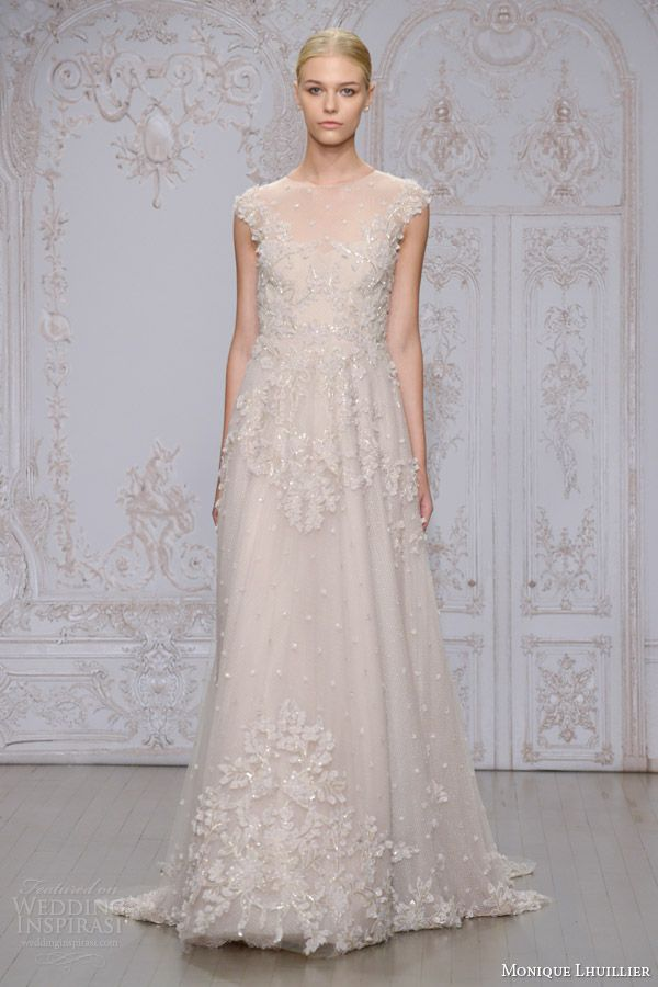 Monique Lhuillier Fall 2015 Wedding Dresses | Girls in WHITE DRESSES ...