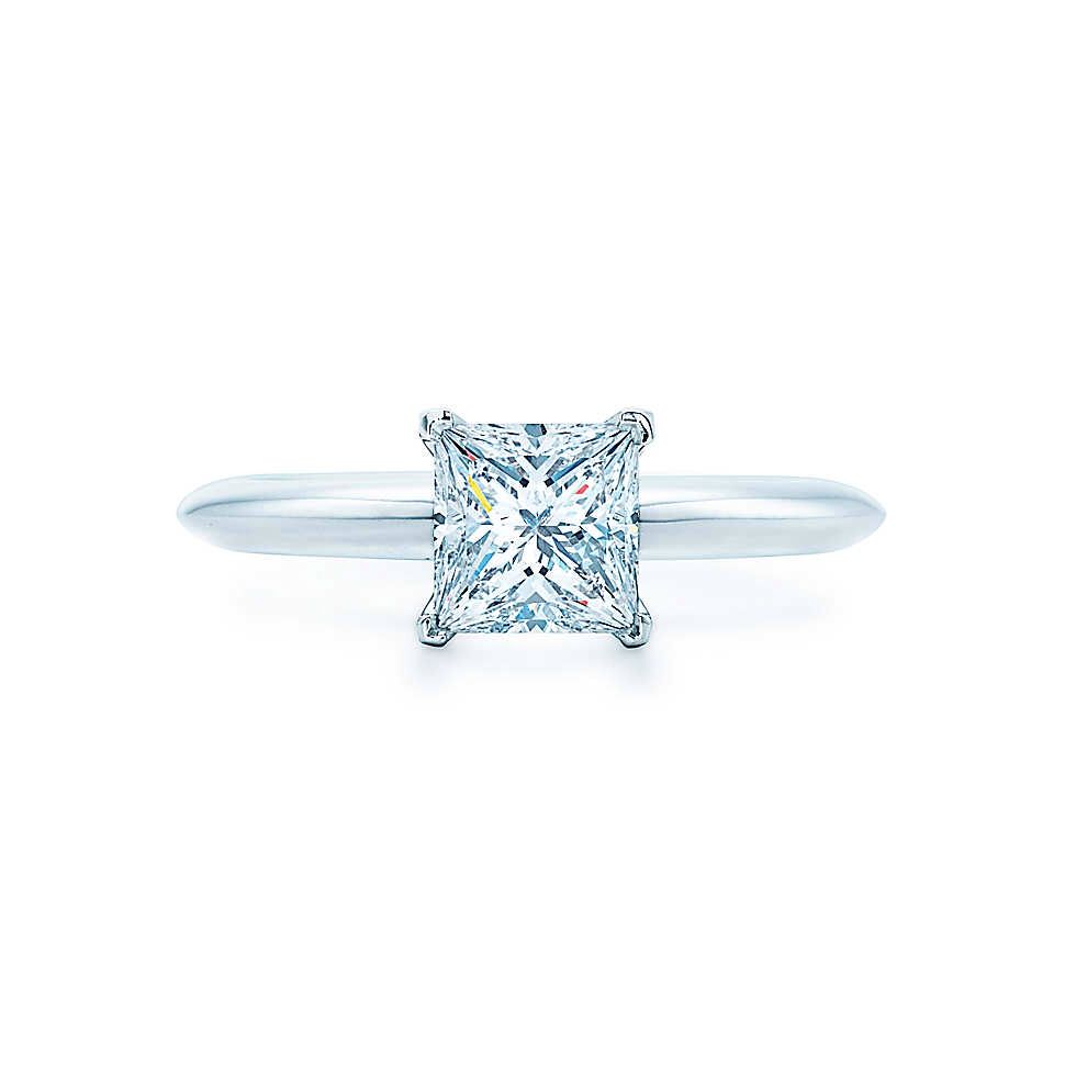 Princess cut is so pretty favorite type of ring engagement rings
