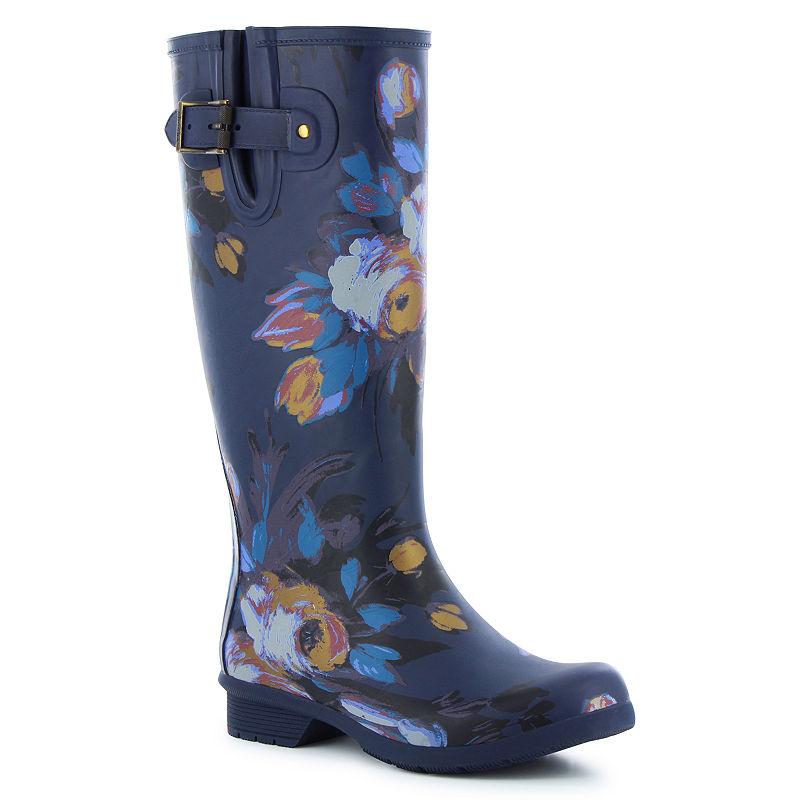 f4859ad41b8bd Western Chief Womens Rain Boots Waterproof Flat Heel Pull-on Wide ...
