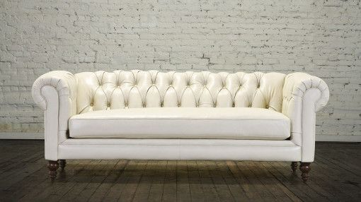 Classic Chesterfield Leather Sofa - Made in USA | Salon